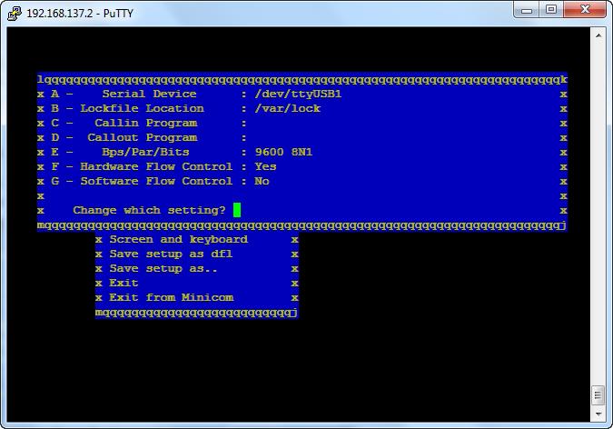openwrt-minicom-serial-port